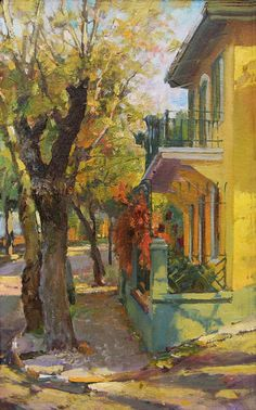 Artists and Art: Oil Paintings by Contemporary Russian Artist Azat Galimov Great Paintings, Beautiful Paintings, Oil Paintings, Landscape Artwork, Urban Landscape, Russian Art, Mellow Yellow, Figure Painting, Artist Art