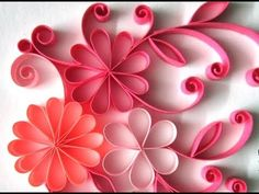 Quilling Made Easy # How to make Beautiful Quilling Paper design -Paper Art - YouTube