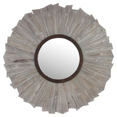Found it at Wayfair - Wooden Mirror in Grey