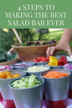 4 Steps To Making The Best Salad Bar Ever   Healthy Lunch Recipe   Healthy Dinner Recipe   Easy Party Food  