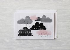 Greeting Card Clouds All occasion card by BeanieonHelinaSHOP, $4.80