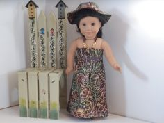 American Girl Doll Clothes Full Length Beach Dress by something2do