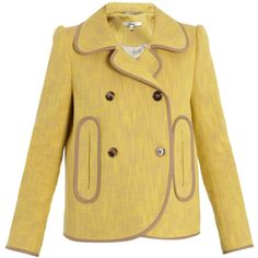 Carven jackets YELLOW found on Polyvore