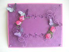 Carte mauve /rose  collection romantique