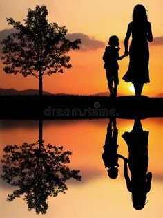 Photo about Mother and daughter in the park and beautiful sunset. Image of carefree, cuddling, female - 28179907 Mother And Daughter Drawing, Mother Art, Shadow Painting, Shadow Art, Mother Painting, Mother And Baby Paintings, Jules Supervielle, Mom Drawing, Birthday Canvas