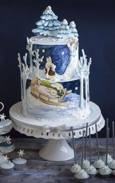 10 Frosty Winter Sweets That Have Nothing To Do With Christmas — Cake Wrecks Gorgeous Cakes, Pretty Cakes, Cute Cakes, Amazing Cakes, Cake Wrecks, Winter Wonderland Cake, Peter Rabbit Cake, Hand Painted Cakes, Occasion Cakes