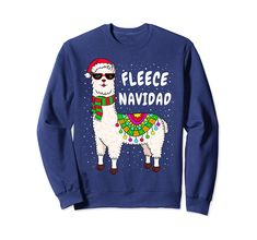 Choose your favorite Fleece Feliz Navidad Llama Christmas Sweater Cute Xmas Gift . Hight quality products with perfect design is available in a spectrum of colors and sizes, and many different types of shirts! Ugly Sweater Run, Girls Ugly Christmas Sweater, Llama Christmas, Christmas Sweaters, Fleece Navidad Sweater, Llama Shirt, Llama Llama, Xmas Gifts, Door Decorating