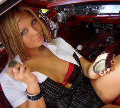 Hot Girls with Cars...