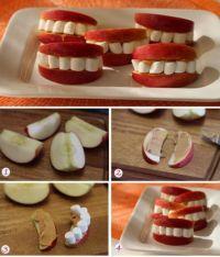 Sourires en pommes et chamallows