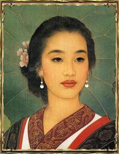 femmes artistes peintres women artists painters : Wang MeiFang (1949)
