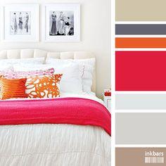 ambientes e suas paletas de cores