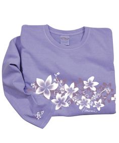 Plumeria Band - Lavender-Dyed Long-Sleeve Mini T-Shirt