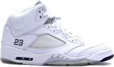 outlet store f8fe3 54e0d Jordan 5 Retro White Metallic Silver Black. Nike Air JordansBuy ...