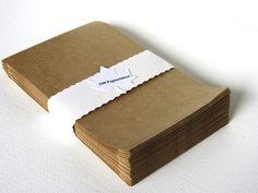 Papiertüten - 100 braune Papiertüten ♥Klein - ein Designerstück von Silber-Pappel bei DaWanda