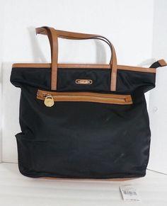 845beba901c54 Authentic Michael Kors Kempton Large NS Tote Black Nylon Shoulder Bag  30T2GKPT3C  53.99!!