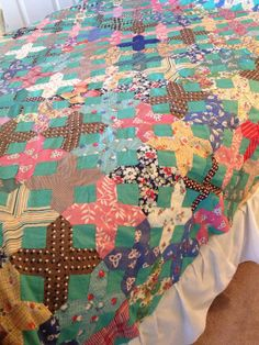 Vintage 1930's Quilt Top Unfinished Handstitched by AStringorTwo, $64.00