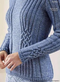 Ravelry: Selma pattern by Pat Menchini Cable Knitting, Sweater Knitting Patterns, Cable Knit Sweaters, Knitting Designs, Knitting Stitches, Knit Patterns, Free Knitting, Tricot D'art, Ravelry