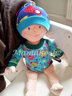 Mütze fuer Kruemel Puppe 43cm naehen