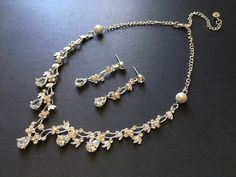 Excited to share this item from my shop: Romantic necklace, rhinestones necklace, crystals necklace, wedding necklace, bridal jewelry set, statement necklace, gift for her #wedding #blingglam #artdeco #princessjewelry #anniversarygift #weddinggift Bridal Jewelry Sets, Bridal Necklace, Rhinestone Necklace, Crystal Necklace, Princess Jewelry, Anniversary Gifts, Rhinestones, Wedding Gifts, Gifts For Her