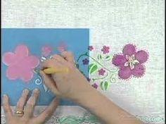 Resultado de imagem para como fazer molde vazado para pintura em tecido