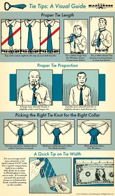 Necktie Tips for Men: An Illustrated Guide #mensstyle #styletips