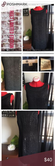 Target Limited Edition blk shift dress BNWOT.                                                               REASONABLE OFFERS ONLY- -Smoke and pet free - I try to stay around 75% off MSRP; please keep this in mind when making offers.  -I do not model anything; everything looks different on everyone and I don't wasn't too Jade that. I will provide measurements if needed.  -NO HOLDS, NO TRADES, POSH RULES ONLY! Target Limited Edition Dresses Midi