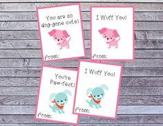 These cute dog Valentines are perfect for your child to give out to friends and family! The printable cards are quick and easy to download and cut out.