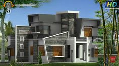 Box Type Home With Cantilever Balcony Kerala Home Design And In Cantilever House Design House Balcony Design, Kerala House Design, Unique House Design, Kerala Houses, Contemporary House Plans, House Elevation, Facade House, Home Design Plans, Modern Architecture