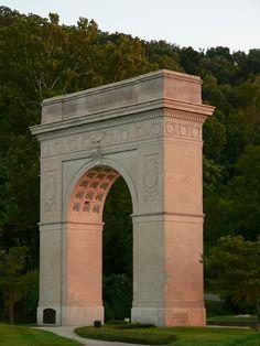 Memorial arch in Ritter Park.  Huntington.