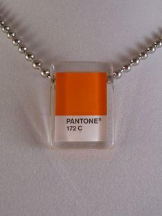 Pantone 172 Orange Tangerine Tango Glass Tile by RedForkDesignCo, $20.00