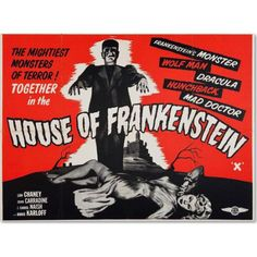 Trademark Fine Art House of Frankenstein Canvas Art by Vintage Apple Collection, Size: 24 x 32, Multicolor