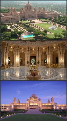 Discover a fascinating past and an enchanting present at Taj Umaid Bhawan Palace Luxury Homes Exterior, Luxury Homes Dream Houses, Dream House Exterior, India Architecture, Beautiful Architecture, Umaid Bhawan Palace, Dream Mansion, Mansion Interior, Fantasy Castle