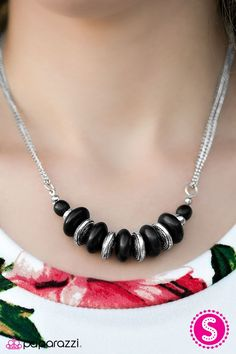 On Mountain Time Black Necklace