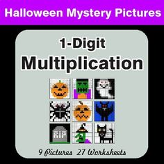 9 Mystery Pictures with 27 Worksheets. Each worksheet includes 10 unique problems. Directions: Solve the math problem, look at the color next to it, and then color in ALL of the squares that have that answer. Simplifying Fractions, Math Fractions, Multiplying Decimals, Multiplication Facts, Percents, Math Coloring Worksheets, Number Worksheets, One Step Equations, Algebraic Expressions