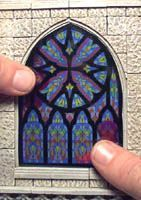 Wonderful site for printables...See printed plans for...doors, stain glass windows and hard to find items..Fantasy Architecture