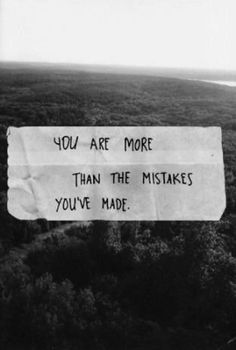 Am I??   Mistakes are a part of learning - who you are. Never begrudge a mistake in the growing, to do so is to judge in ignorance the process itself. To fear or deny the merit towards growth. Beautiful within towards total, mistakes a part of this becoming. Relish living in the Friendship hard and easy days. Learn. Change. Move on.