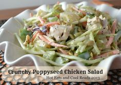 Crunchy Poppyseed Chicken Salad from Hot Eats and Cool Reads