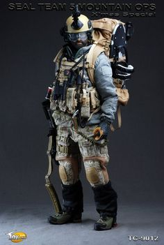 TOYSCITY 1/6 Scale Seal Team 5 Mountain OPS Soldier Figures $115.00
