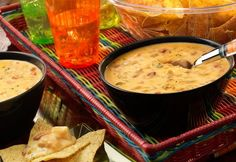 Chipotle Chicken con Queso Dip: It just doesn't get any easier than this…2 ingredients & 3 minutes on the stove, and you've got a scrumptious queso dip