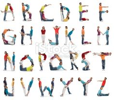 image photo people letters | casual smiling people alphabet isolated on white Stock Photo 7470192 ...