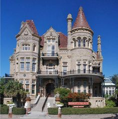 The Bishop's Palace, also known as Gresham's Castle, is an ornate 19,082 square feet Victorian-style house, located on Broadway and 14th Street in the East End Historic District of Galveston, Texas.