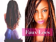 Faux Locs: Marley Locs, Temporary Loc Extensions, Protective Styling - YouTube hmmmmmmmmm......
