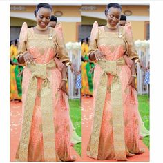 Traditional wear for Baganda African Attire, African Wear, African Fashion, African Traditional Wear, Traditional Dresses, Traditional Wedding Attire, Traditional Weddings, Black Girl Fashion, Bridal Gowns