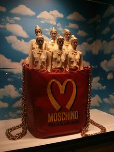 The Moschino griffe design for La Rinascente @ Vogue Fashion Night Out - Milan 2014  #milan #moschino #fashion #vogue #brand #visual #larinascente #escaparate #unconventional #cool #griffe #style