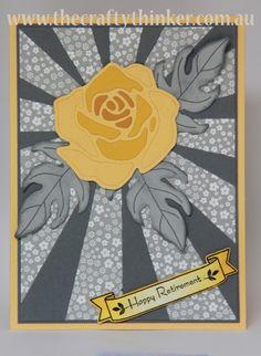 #Stampin Up, #The Crafty Thinker, Rose Wonder, Sunburst Thinlit,