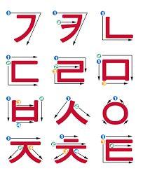 korean stroke order ile ilgili görsel sonucu