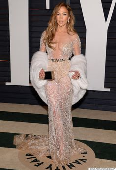 JLo turns the volume UP for the VF after party! Oscars 2015