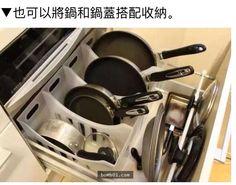 Organize frying pans