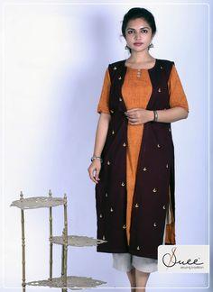Khadi Kurta with hand embroidered sleeveless cape. Khadi Kurti, Kerala Saree, Vogue India, Fashion Photography, White Photography, Indian Ethnic Wear, Vogue Magazine, Vishu Festival, Sustainable Fashion