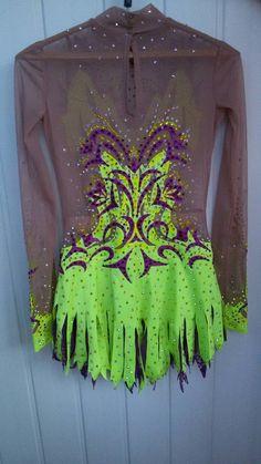 Leotardo de rítmico GymnasticsFigure Dress danza por artmaisternia